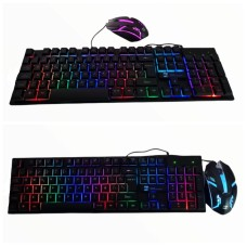 KIT Teclado+ Mouse  R8 1909 USB Gamers Con Luces RGB